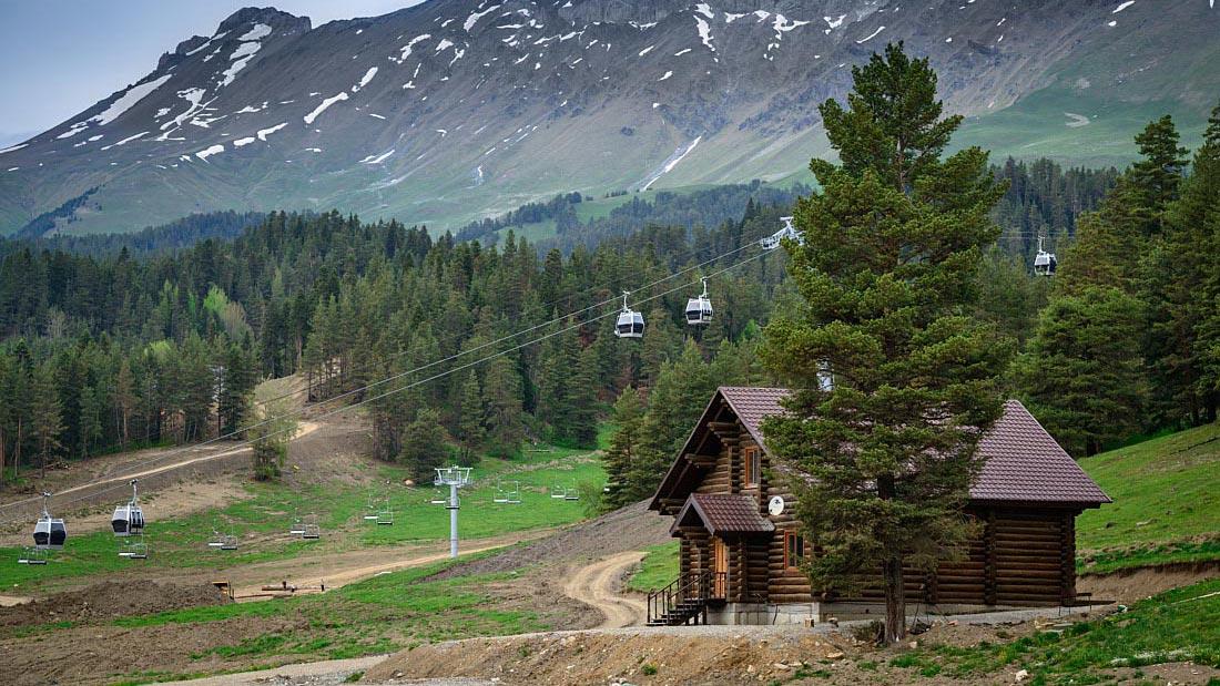 ландшафтный дизайн вокруг деревянного дома